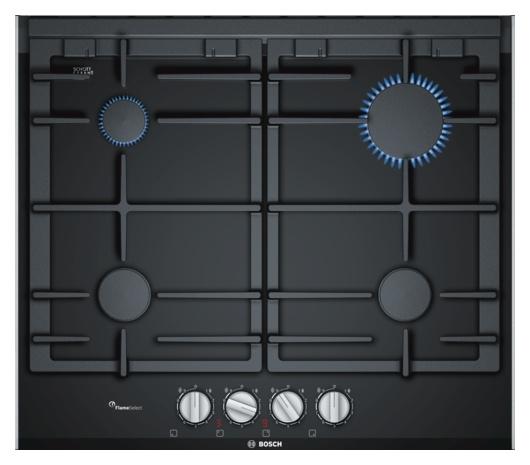 Bosch PRP6A6D70D Autarkes Gaskochfeld, ,60 cm breit, FlameSelect, schwarz