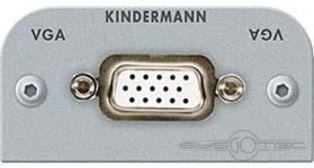 Kindermann VGA Anschlussblende mit Lötanschluss