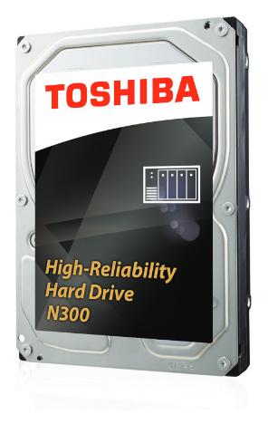 Toshiba N300 6TB NAS High-Reliability Hard Drive HDWN160EZSTA