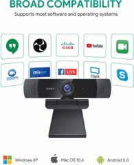 Aukey PC-LM1E Webcam 1080p Full HD