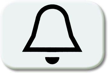 Busch-Jaeger Tastersymbol 2525 KI-214, alpinweiß