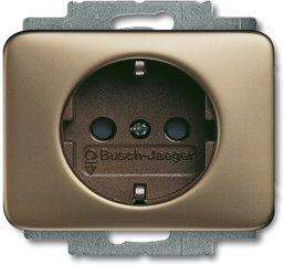 Busch-Jaeger SCHUKO® Steckdosen-Einsatz 20 EUC-21, bronze