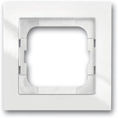 Busch-Jaeger Abdeckrahmen Busch-axcent® flat 1721-284/11, studioweiß