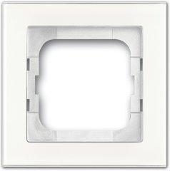 Busch-Jaeger Abdeckrahmen 1721-280, weißglas