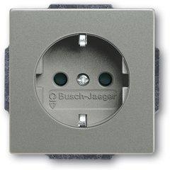 Busch-Jaeger SCHUKO® Steckdosen-Einsatz 20 EUC-803, graumetallic