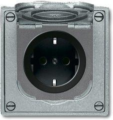 Busch-Jaeger SCHUKO® Steckdose 20 EFDB2, hammerschlag grau