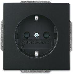 Busch-Jaeger SCHUKO® Steckdosen-Einsatz Busch-steplight® 20 EUCBLI-885, schwarz matt