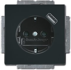 Busch-Jaeger SCHUKO® USB-Steckdose 20 EUCBUSB-81, anthrazit