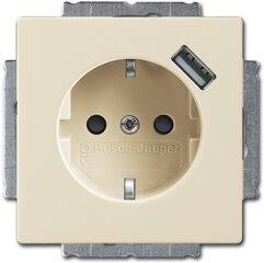 Busch-Jaeger SCHUKO® USB-Steckdose 20 EUCBUSB-82, elfenbeinweiß