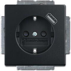 Busch-Jaeger SCHUKO® USB-Steckdose 20 EUCBUSB-885, schwarz matt