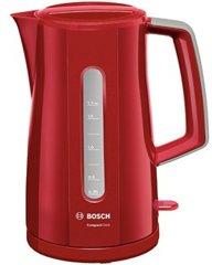 Bosch Wasserkocher TWK3A014, Rot/Hellgrau