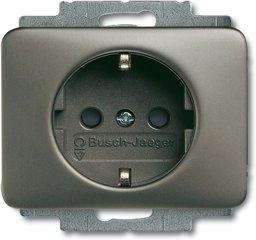 Busch-Jaeger SCHUKO® Steckdosen-Einsatz 20 EUC-20, platin