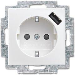 Busch-Jaeger SCHUKO® USB-Steckdose 20 EUCBUSB-914, alpinweiß