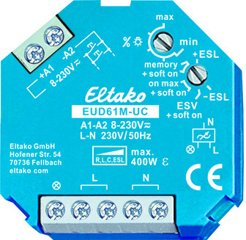 Eltako Multifunktions-Universal-Dimmschalter UC. Power MOSFET 400W, R+L+C+ESL