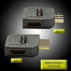 Goldkabel HDMI Winkeladapter Flach Typ A 90 Grad