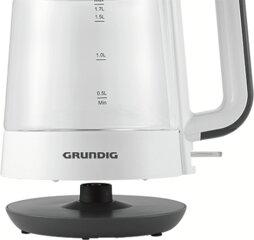 Grundig Wasserkocher WK 5860, Weiß/Schwarz, 2400W