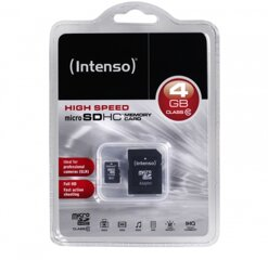 Intenso Micro SDHC Card 4GB inkl.Adapter
