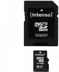 Intenso Micro SDHC Card 16GB inkl.Adapter