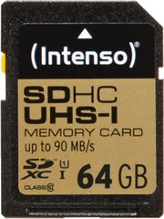 Intenso 64GB SD Class 10, UHS -1 Professional