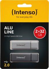 Intenso AluLine USB Drive 32GB Doppelpack (2x32GB)