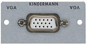 Kindermann VGA Anschlußbuchse mit Kabelpeitsche 54x54mm