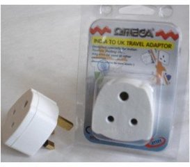 Omega India to UK Travel Tourist Adaptor Converter Main