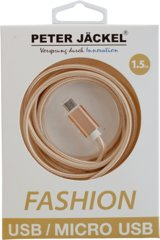 Peter Jäckel FASHION 1,5m USB Data Cable für Micro