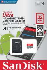 Sandisk Ultra Android microSDHC 32GB A1 UHS-I + SD
