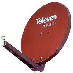 S85QSD-Z Televes/ Preisner QSD-Line Offset Reflektor Rot