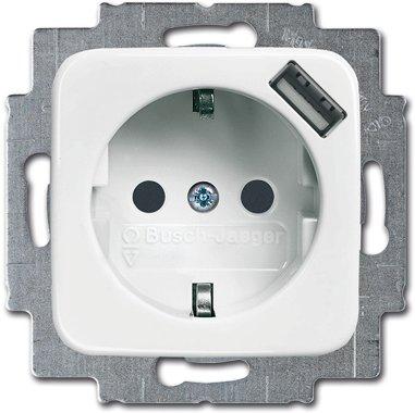 Busch-Jaeger SCHUKO® USB-Steckdose 20 EUCBUSB-214 | 2011-0-6157