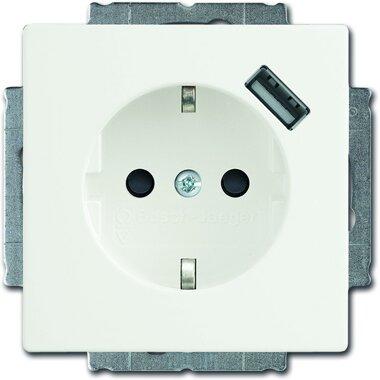 Busch-Jaeger SCHUKO® USB-Steckdose 20 EUCBUSB-84 | 2011-0-6161