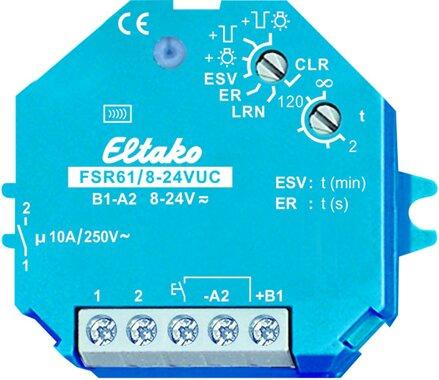 Eltako Funkaktor Stromstoß-Schaltrelais. 1 Schließer potenzialfrei 10A/250V AC