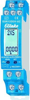 Eltako Digital einstellbares Multifunktions-Stromstoß-Schaltrelais. 1+1 S. potenzialfrei 16A/250V AC