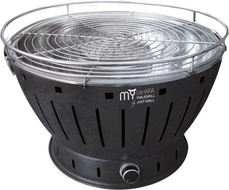 Tisch Holzkohlegrill Mit Lüfter : My sahara ms34 tb. rauchfreier holzkohlegrill tisch grill