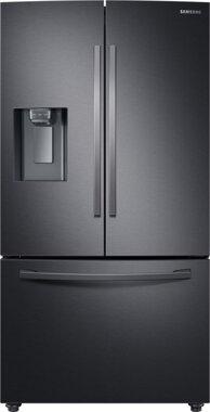 Samsung French Door Kühlschrank mit Eiswürfelspender, Side by Side schwarz