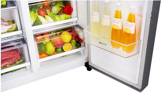 Side By Side Kühlschrank Gewicht : Lg side by side kühlschrank gsl360icez 591 l nofrost a sicher