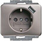 Busch-Jaeger SCHUKO® USB-Steckdose 20 EUCBUSB-20, platin