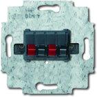 Busch-Jaeger Stereo-Lautsprecher-Anschlussdose 0248/04-101, alpinweiß