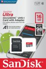 Sandisk Ultra Android microSDHC 16GB A1 UHS-I + SD